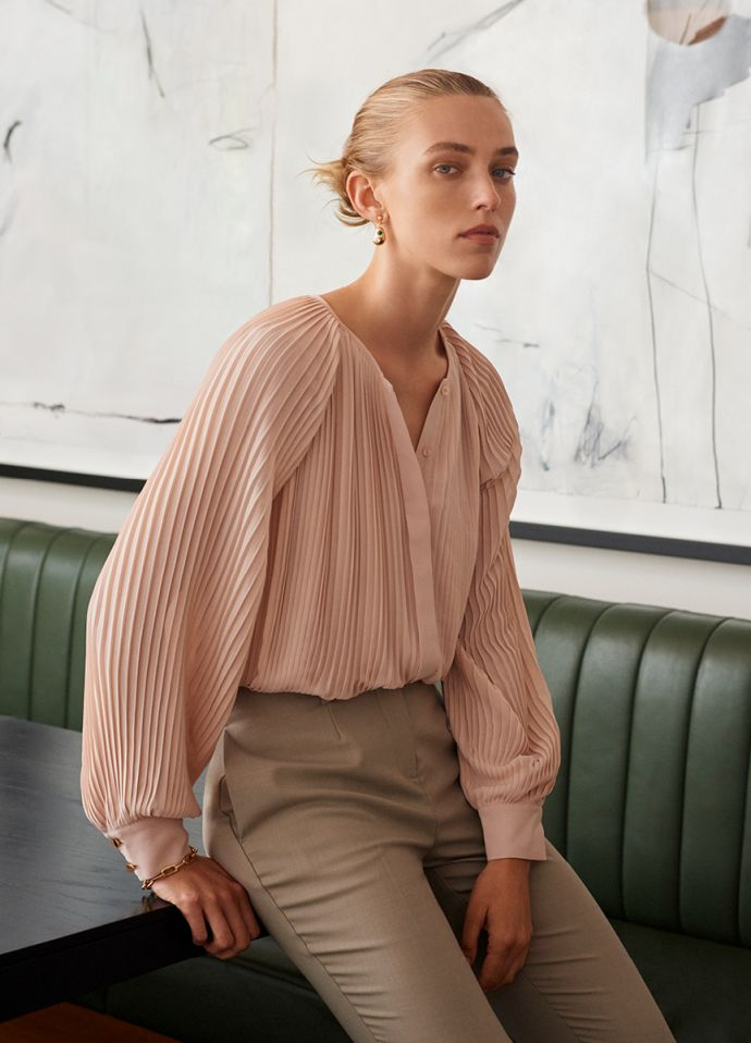 ELSA PLEAT BLOUSE