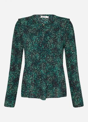 GREEN ANIMALIA VISC CDC BLOUSE