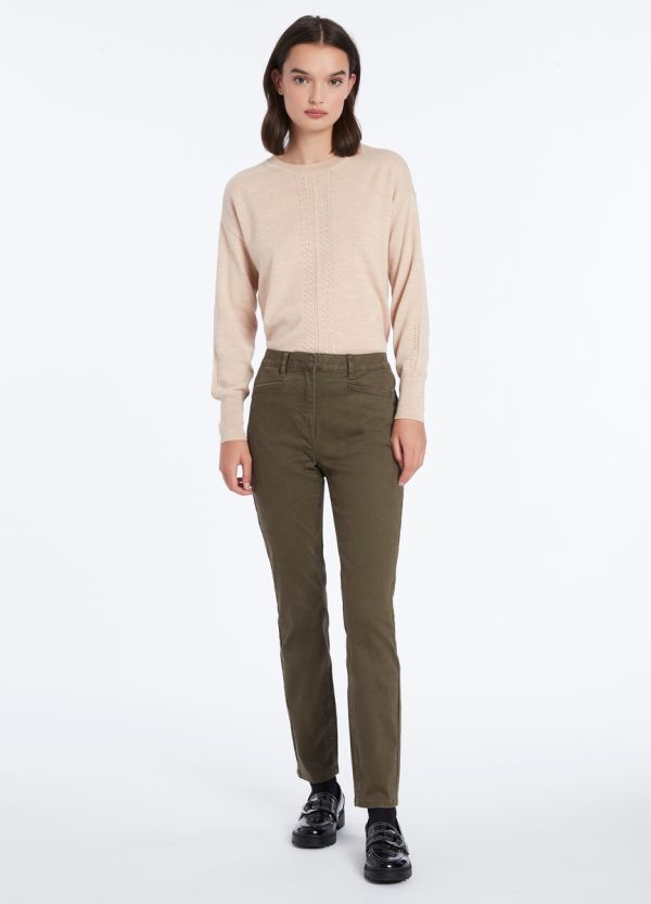 CARA COTTON SATEEN PANT
