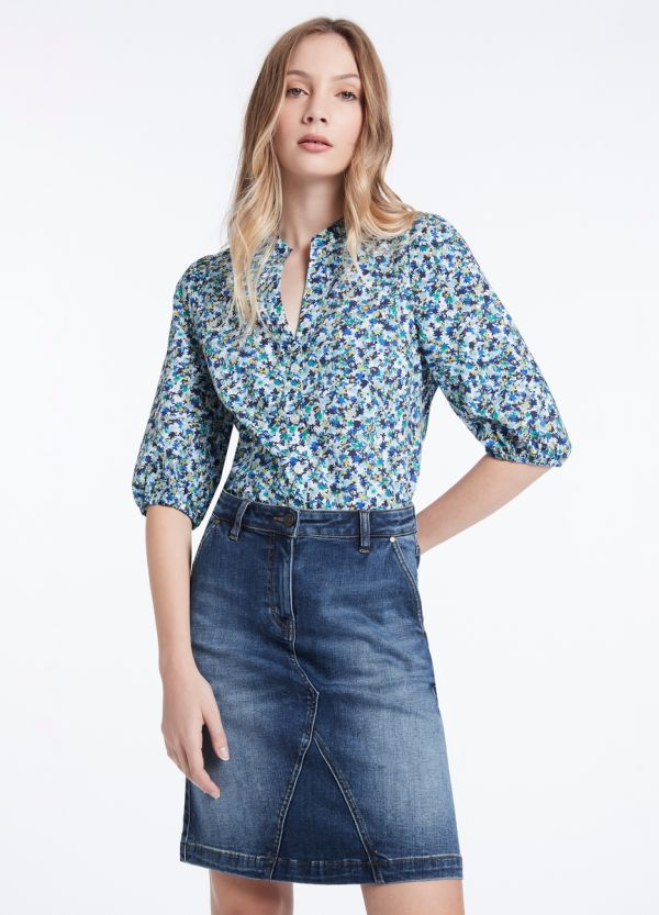 ONCE AND FLORAL COTTON SHIRT