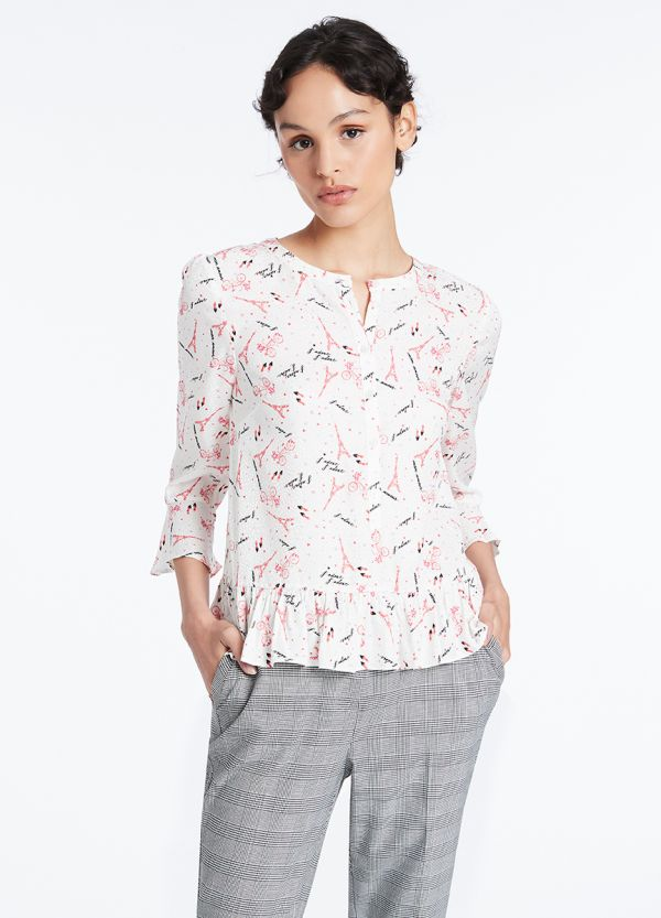 A DAY IN PARIS SILK MIX BLOUSE