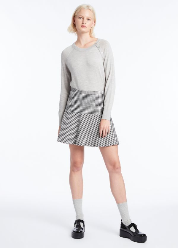 FLIPPY DOGTOOTH SKIRT