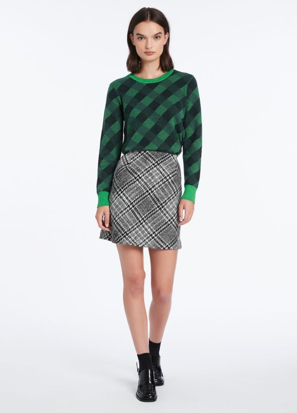 PLAID TO MEET YOU SKIRT