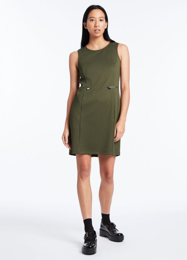 DINE AND DASH TEXTURED DRESS