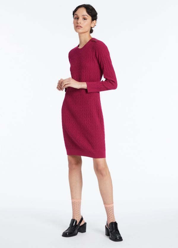 TARA TEXTURED KNIT DRESS