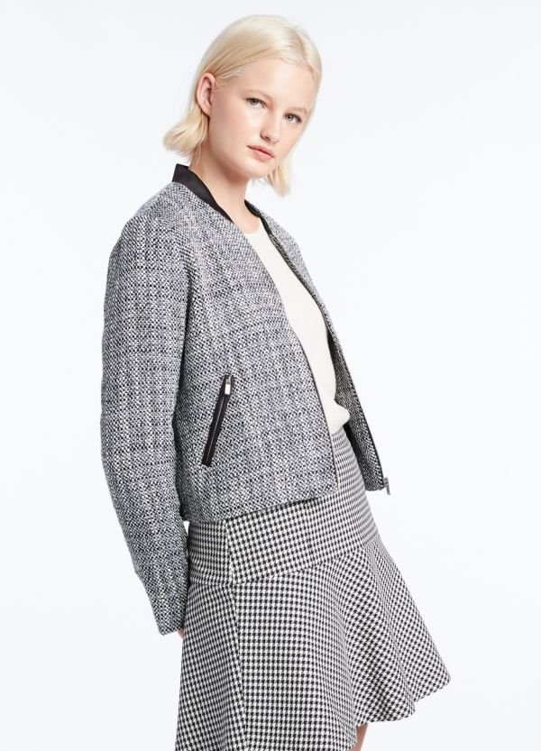 TILLIE TWEED BOMBER JACKET