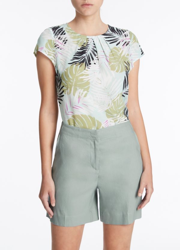 LEAFY VIEWS SILK CDC TOP