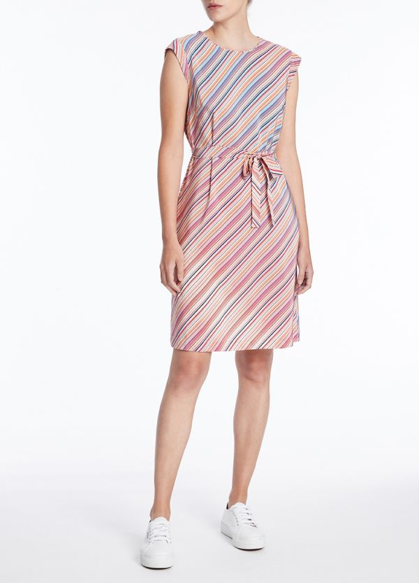 RETROSTRIPE SILK DRESS
