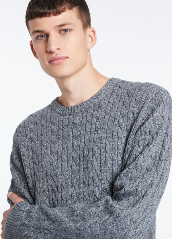 ECHO CABLE CREW KNIT