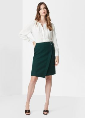 MARISA WOOL WRAP SKIRT