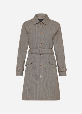 HARLEY HOUNDSTOOTH TRENCH
