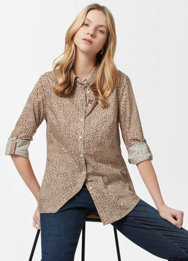 CAMILLE PRINTED VOILE SHIRT