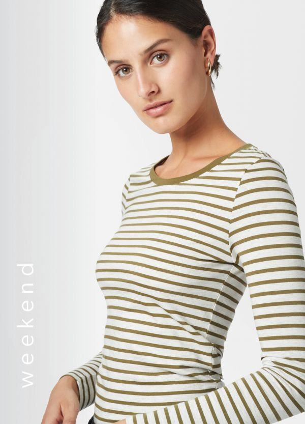 MICHELA STRIPE LONG SLEEVE TEE
