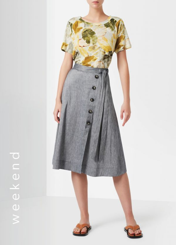 SPENCER LINEN WRAP SKIRT