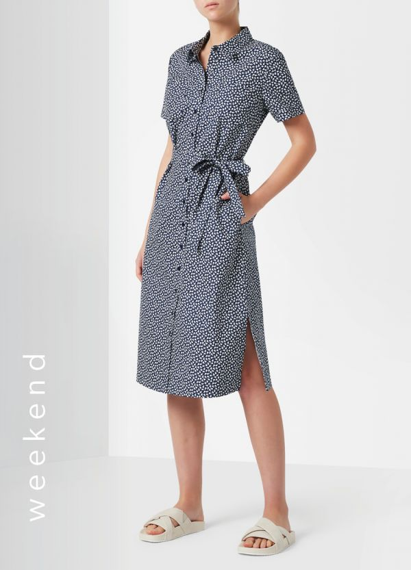VALERIE PRINTED SHIRT DRESS