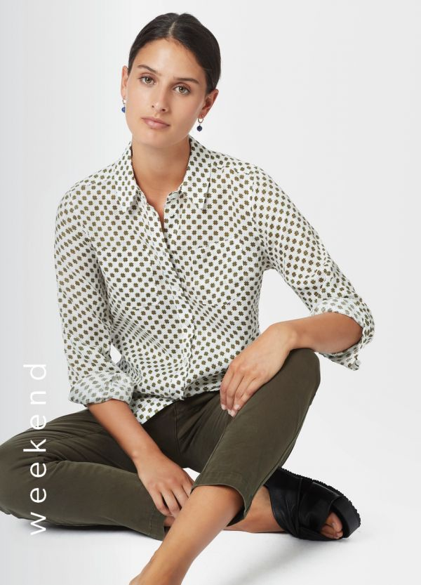FRANCES PRINTED LINEN SHIRT