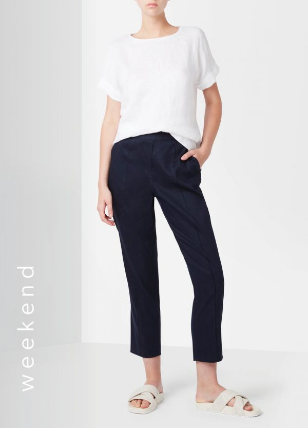 TAPERED LINEN PANT