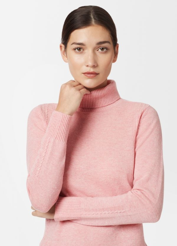 CABLE DETAIL ROLL NECK