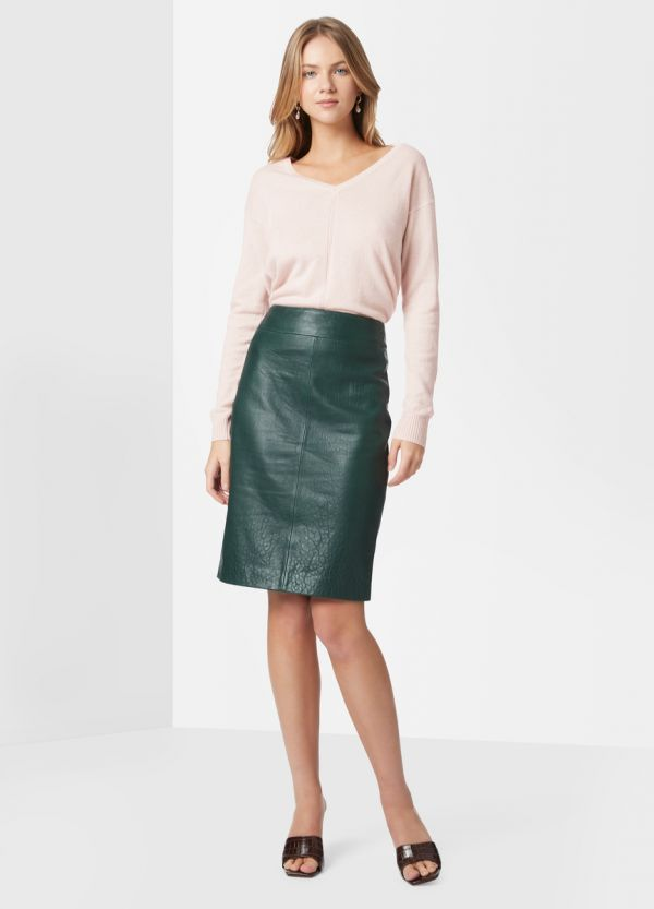 MADDI LEATHER PENCIL SKIRT