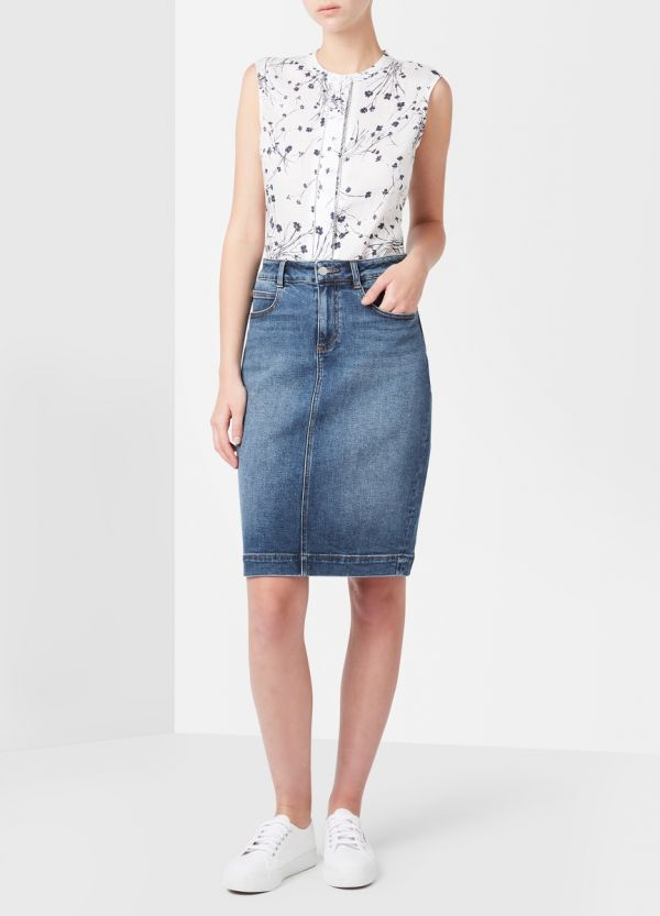 MARNIE DENIM SKIRT