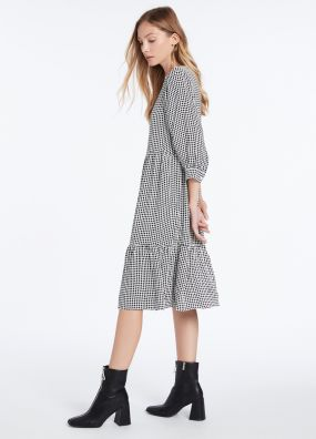 DOTTY PRINTED MIDI DRESS