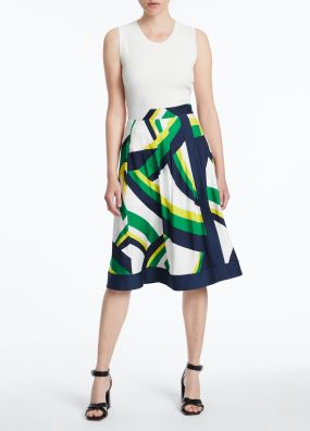 CRAZY STRIPE VISCOSE CDC SKIRT