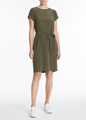 ANY HOUR SILK JERSEY DRESS